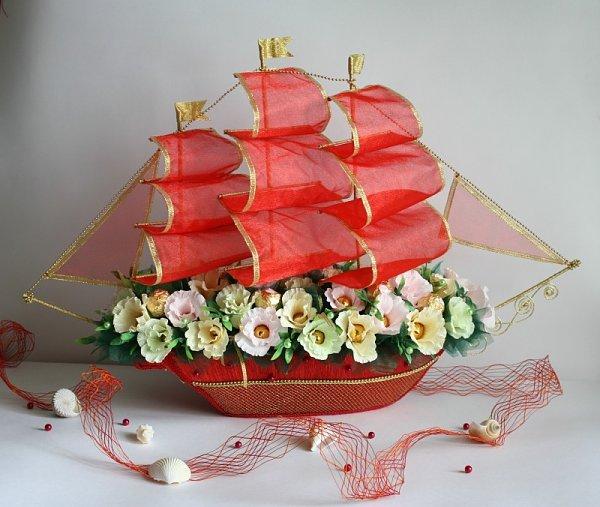Букеты из конфет своими руками кораблики