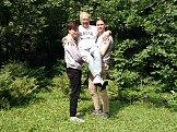 Это я с моими внуками